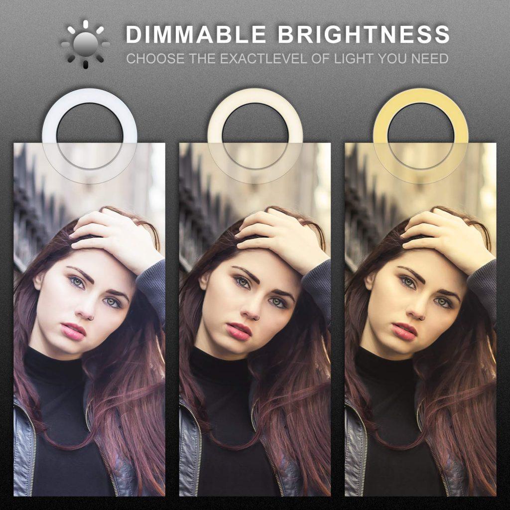 avis studio photo maison lumière éclairage MACTREM LED Ring selfie