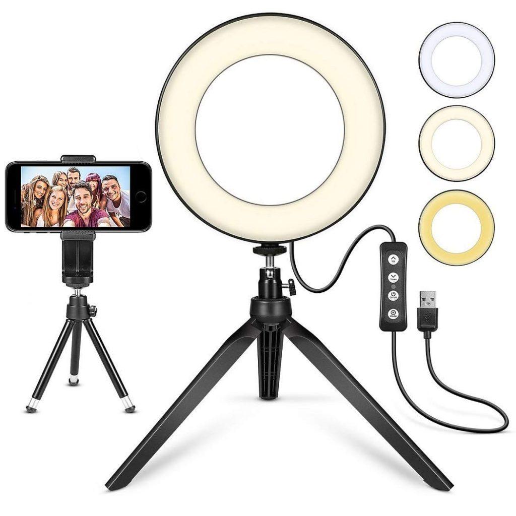 studio photo maison MACTREM LED Ring selfie