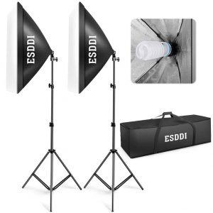 studio photo maison kit éclairage Softbox ESDDI