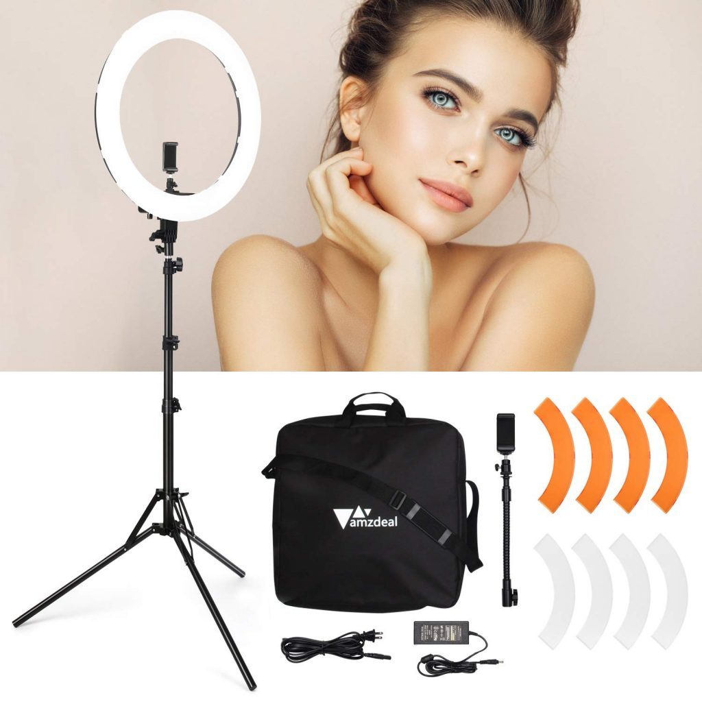 studio photo ring light Amzdeal